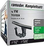Rameder Komplettsatz, Anhängerkupplung starr + 13pol Elektrik für VW TOURAN (113115-10449-2)
