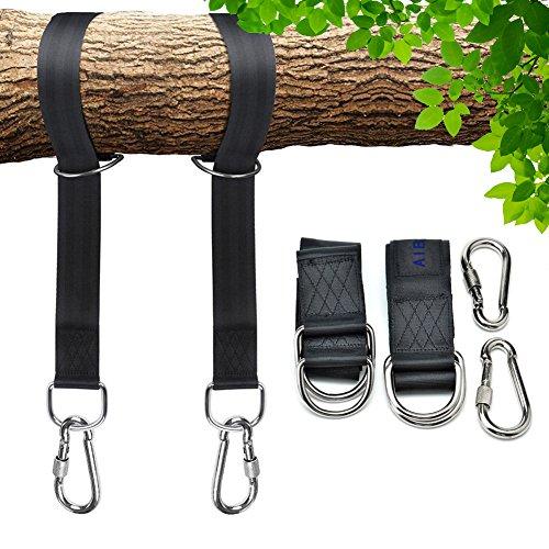 Aibesser 1 Paar Swing Hanging Gurt Kit Befestigungsset Schaukel Befestigung für Hängematten Aufhängungsset für Schaukeln an Bäumen Befestigungsset Hängematte 2 x 150CM aus Beste Polyester Fiber