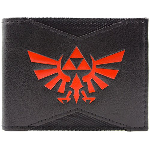 Cartera de Nintendo Zelda Trifuerza del emblema Negro