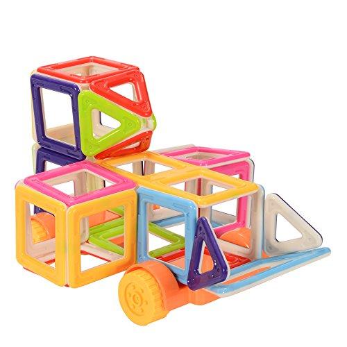 zantec 38pcs Kids Toys Magnetische Bausteine Set mit Rad Educational DIY Spielzeug Eltern-Kind-Aktivitäten Toys m032b-3