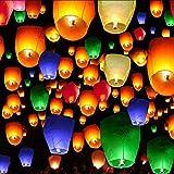 20pz lanterne volanti, Doris diretto cinese lanterna eco-friendly volare lanterne -100% biodegradabile lanterne per Natale, Capodanno, Capodanno cinese, matrimoni e feste