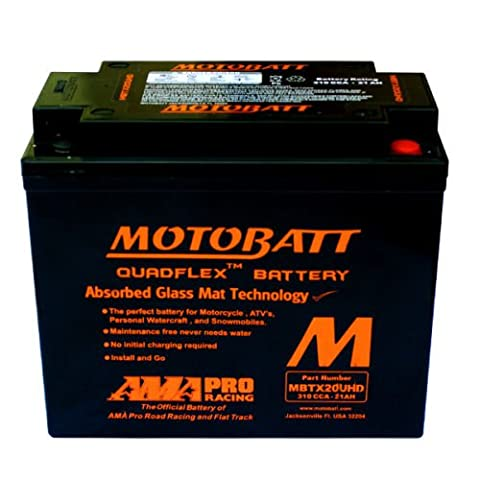 Batterie mOTOBATT 12V 21AH 310CCA mbtx20uhd pour Harley Davidson FXD Dyna Super Glide 145019992006