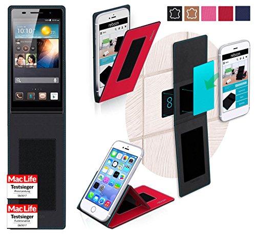 reboon Hülle für Huawei Ascend P6 Tasche Cover Case Bumper | Rot | Testsieger