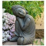 INtrenDU Bouddha Statuette Chinois 43 cm décoration Zen pour intérieur extérieur Jardin Zen, Feng Shui