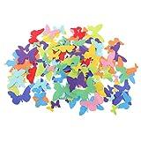B Baosity 150er Set Filz Bastelfilz Applikation Sticker Stoff Aufkleber Schmetterlinge Aufkleber für DIY Handwerk Dekoration