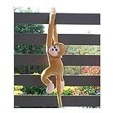 Omiky® Niedliche Kreischen Affe Plüschtier Puppe Puppe Gibbons Kinder Geschenk (Braun)