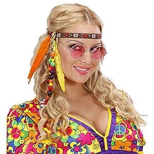 Hippie vendas con los granos y las plumas de accesorios para el vestido de lujo