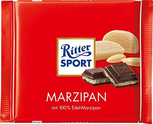 Roten Dunkle Herzen Mit Schokolade (Ritter Sport Marzipan, 100 g)