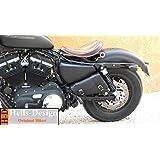 Hells-Design Dreieck-Rahmentasche für Motorrad Harley Sportster XL 883-1200 & Bobber Leonart