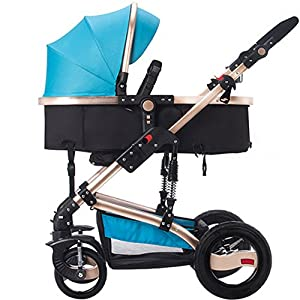 Baby stroller can sit Reclining shock folding Multifunctional four-wheeled vehicle   6