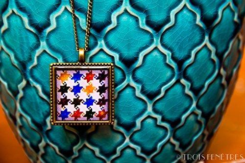 collana-collezione-alhambra-25mm-vichy-colori-fotografia-sotto-resina-ecologica-regalo-per-lei