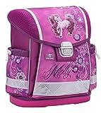 Ergonomischer Schulranzen für die Grundschule - 1-3 Klasse / Mädchen / Pferd - Pink von Belmil