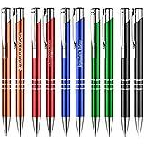 1 Stück BLAU Schreibset Kugelschreiber Set Luna Kuli und Bleistift mit Gravur Lasergravur