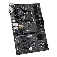Motherboard, KKmoon Colorful C.B250A-BTC V20 Systemboard for Intel B250/LGA1151 Socket Processor DDR4 SATA3 USB3.0 ATX Mainboard for Miner Mining Desktop