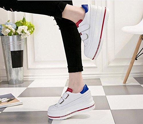 scarpe di tela molla femminile grandi pattini della piattaforma di base studentesse in scarpe più alte per il tempo libero piccole scarpe bianche red blue