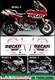 Kit adesivi decal stikers DUCATI MULTISTRADA 620 1000 1100 TRIBUTE