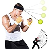 Timogee Boxen Training Ball,Reflex Fightball Speedfitness Punch Boxing Ball mit Kopfband,Trainingsgerät Speedball für Boxtraining Zuhause und Outdoor