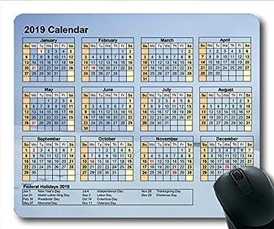 Yanteng Calendario 2019 Alfombrilla de ratón 181222-005 de Yanteng