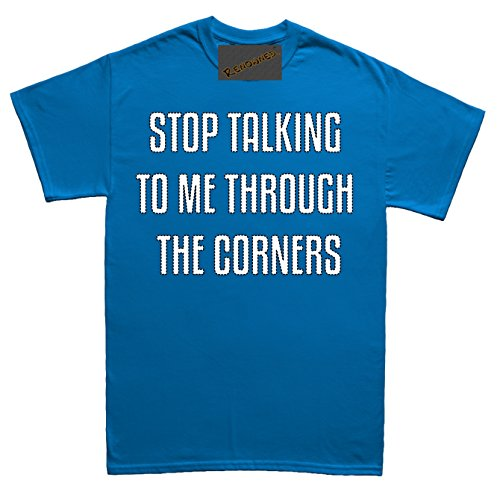 Renowned Stop talking to me through the corners Unisex - Kinder T Shirt Blau