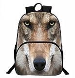 ZHANGOR 3D Lobo Animal Mochila para Perro Bolsa De Estudiante Al Aire Libre Bolsa De Hombro De...