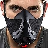 LEOSO - Máscara de entrenamiento deportivo para correr, ciclismo, fitness, alta altitud, máscara de simulación para alto rendimiento, restricción de la respiración, máscara 3.0 de 6 niveles, Black 6 Level