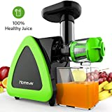 Entsafter Gemüse und Obst, Homever Slow Juicer Ausgestattet mit Einem Geräuscharmen Motor für Erstellen Sie Fruchtsaft Gemüsesaft