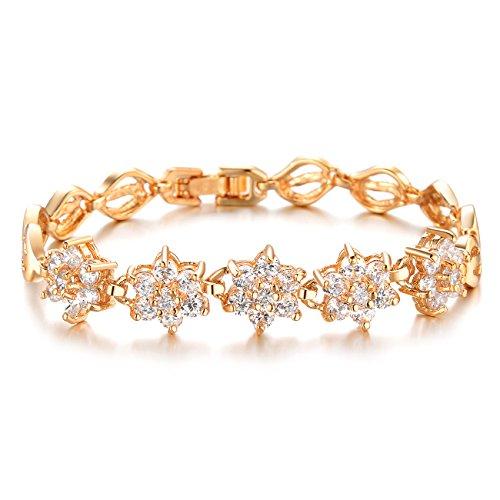 Fate Love Schmuck Blume Design Dazzling Kristall 18K Vergoldet Armband–Frauen Ideales Geschenk–wird in (Sexy Outfits Golf)