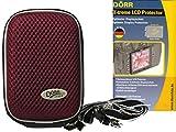 Foto Custodia Per Fotocamera Hard Box Memo M Plum Set con LCD Schermo