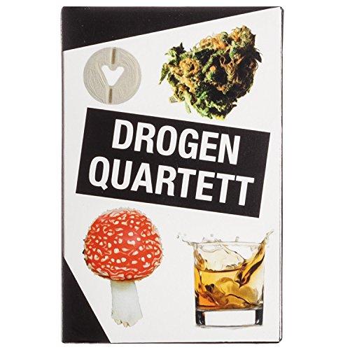 Goods & Gadgets Drogen Quartett - Das ultimative Rauschgift Kartenspiel Spielquartett