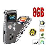 CW91teléfono grabadora de Voz Digital Spy 8GB MP3Reproductor de música Digital espía cámara espía de espías