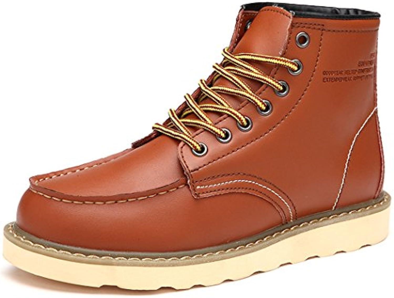 HHY-Desgaste transpirable en invierno y en invierno, el cuero, el cashmere, cálido hombre de zapatos, botas, zapatos...