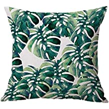Winwintom Hoja de plátano sofa cama casa decoracion festival Pillow Case Funda de cojin (Color D)