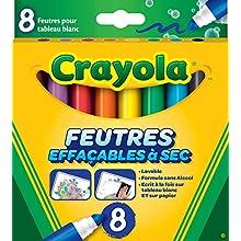 Crayola - 8 Feutres effaçables à sec - boîte française - - 256345.012