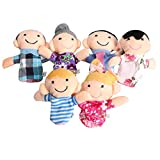 #8: CONNECTWIDE® New Family Finger Puppet- Set of 6 (Family) Story Set Toy Gift for Kids Baby-Size;(38 x 25.4 x 2.5 cm)