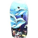 Lively Moments Bodyboard 94 cm/Body Board/Surfboard/Schwimmbrett in hellblau mit...