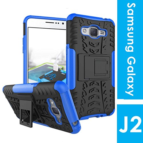 Noise Hybrid Dual layer Protection Shockproof Protective TPU+PC Back Cover with Inbuilt Kickstand for Samsung Galaxy J2 - 6 / Pro 2016(Blue)