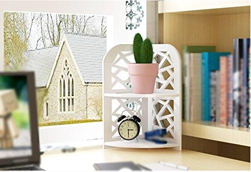 Librería Libro Stand Blanco Escritorio Oficina de Estudiantes Creative ( Tamaño : 29.5*21.5*39.5cm )