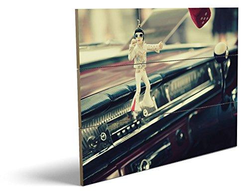 Oldtimer Rocker, qualitatives MDF-Holzbild im Drei-Brett-Design mit hochwertigem und ökologischem UV-Druck Format: 80x60cm, hervorragend als Wanddekoration für Ihr Büro oder Zimmer, ein Hingucker, kein Leinwand-Bild oder Gemälde (Thriller Kostüm Für Verkauf)