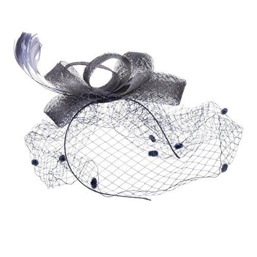 Gabriera Damen Stirnband Gr. One size, grau (Stirnband Birdcage)