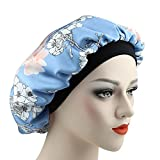 Alnorm Silk Satin Nachtmütze Schlaf Hüte für Frauen Stylische Badekappe Bad Dusche Stirnband