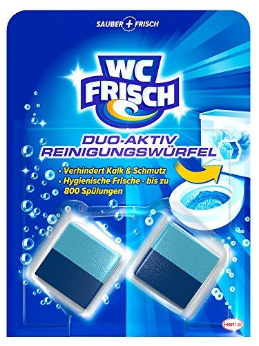 WC Frisch Duo-Aktiv Reinigungswürfel für Wasserkästen, 2 Stück