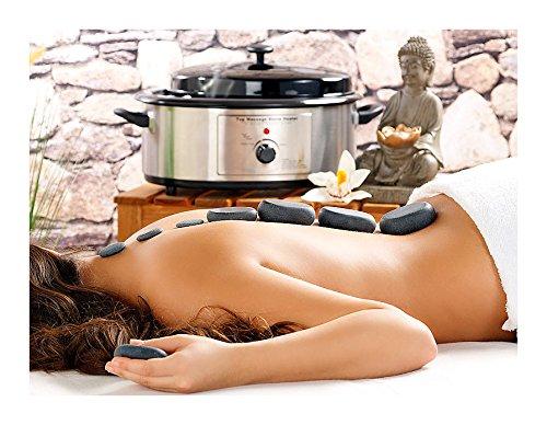 Newgen set hot stone terapy 23 pietre + riscaldatore heater per un massaggio hawaiano a casa