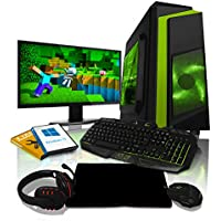 ADMI GAMING PC PACKAGE: 21.5 Inch 1080p Monitor, Keyboard, Mouse and Gaming Headset Vega Graphics 2200G 3.7GHz Quad Core 1TB HDD, 8GB RAM, Wifi, F3 Gaming Case, Windows 10)