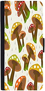 Snoogg Seamless Rainy Season Background Graphic Snap On Hard Back Leather + P...