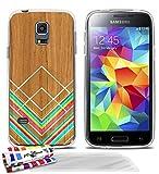 Muzzano extra-flessibile, pittura su legno custodia con 3pellicola protettiva ultra trasparente per Galaxy S5Mini/G800–trasparente