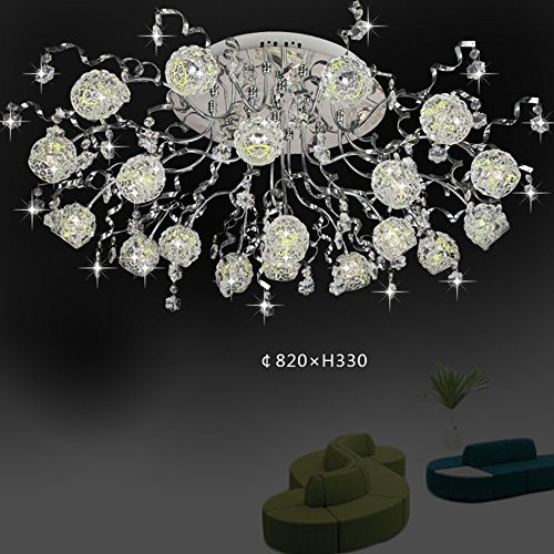 CCYYJJ Crystal Deckenleuchten, Kreative Klebrige Bügeleisen Wohnzimmer Schlafzimmer Deckenleuchte G4 Niederdruck 57 W Deckenleuchte Weißes Licht Warmes Licht 82 * 33 Cm Mode (Farbe: Warmes Licht Led) (Niederdruck-farbe)