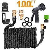 Expandable Garden Hose 100Ft/30M Expanding Garden Hose Pipe with Brass Connectors, 8 Function