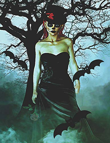 Gothic Women with Bats: Journal Notebook with blank lined pages for Goth Lovers -