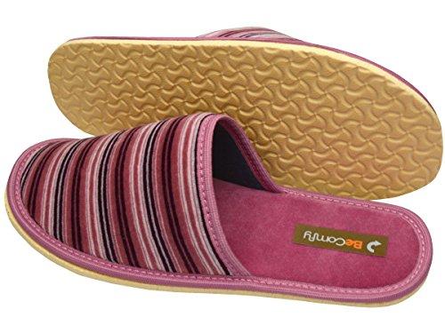 Hausschuhe Baumwolle Damen Pantolette Komfort Pantoffeln Latschen Modell DN07 Pink