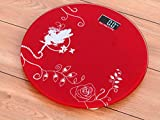 #5: Red Thick Unbreakable Glass Electronic Digital Personal Bathroom Body Weight Weighing Scale